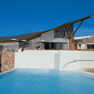The pool area at Grootbos, luxury hotel in South Africa