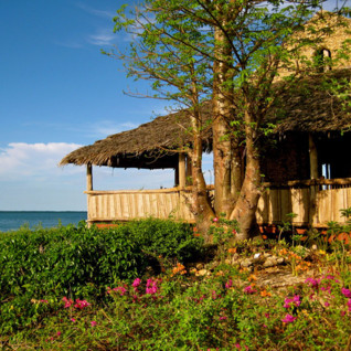 Lodge overlooking the ocean at Chole Mijini, luxury hotel in Africa