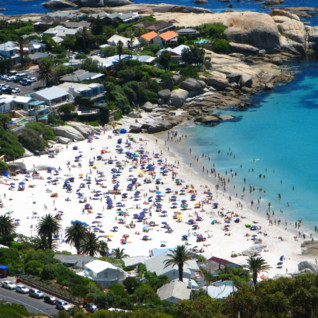 Aerial View of the beach in Cape Town