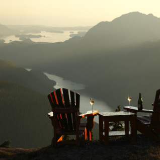 Chairs at Clayoquot Wilderness Resort, luxury hotel in British Columbia, Canada