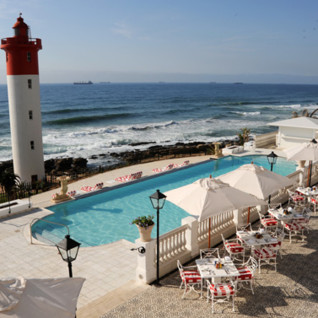 Pool and Sea View at Oyster Box Hotel, luxury hotel in South Africa