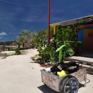 Picture of the dive centre at Fowl Cay