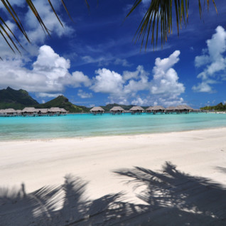 Picture of the water villas at the Four Seasons Resort Bora Bora
