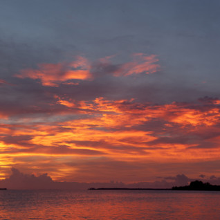 Picture of the sunset at Lissenung Island Resort
