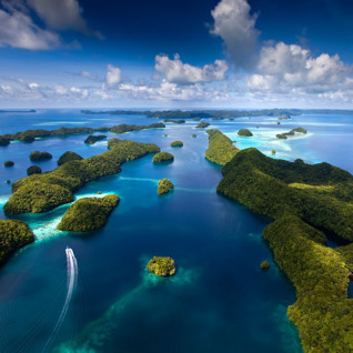 Picture of beautiful aerial shot of Palau