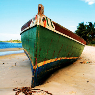 Picture of boat on the beach Bazaruto Archipelago