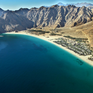 Picture of Aerial view Zighy bay Oman