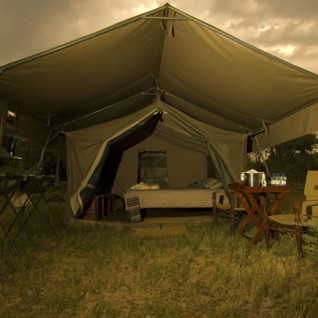 Tent at Khwai Tented Camp, luxury camp in Botswana