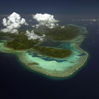Picture of aerial view of Yap from North