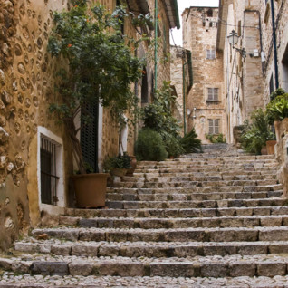 A Cobbled Staircase in Mallorca