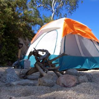 Camping on Espiritu Santo Island