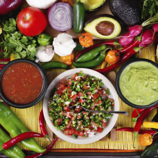 Salsa ingredients, Mexico