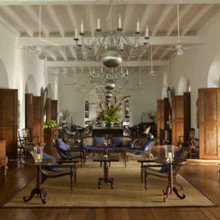 Lounge at Amangalla, luxury hotel in Sri Lanka