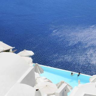 Clifftop Swimming Pool in Santorini