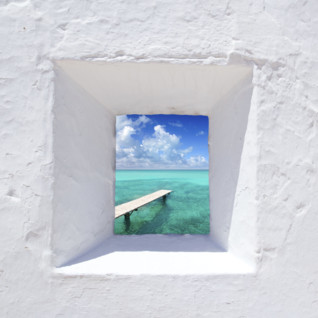 A Glimpse of the Sea Through a Spanish Window