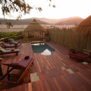 The pool at Serra Cafema, luxury camp in Namibia