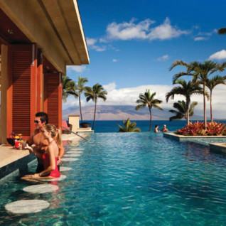 The pool bar at Four Seasons Resort Maui Wailea