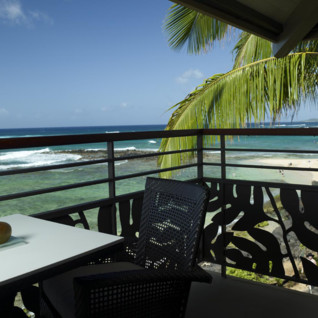 The balcony at Koa Kea, luxury hotel in Hawaii