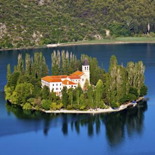 Island in Croatia lake