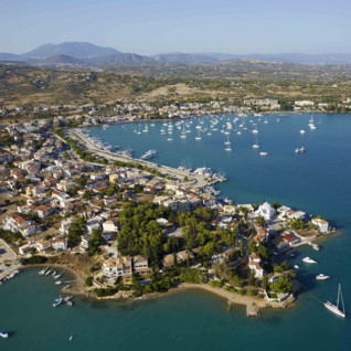 Porto Heli destination aerial view