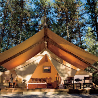 Paws Up tent exterior
