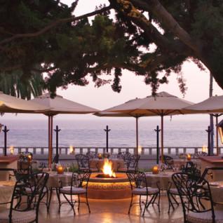 Terrace at Four Seasons Santa Barbara, luxury hotel in Santa Barbara, Big Sur