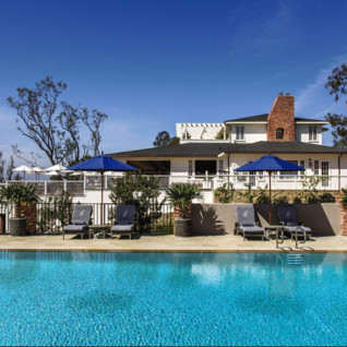 The pool at El Encanto, luxury hotel in Big Sur