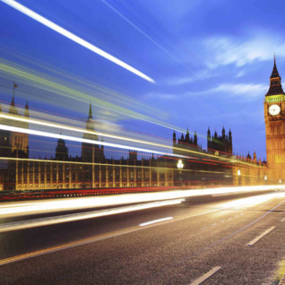photograph of big ben and streets of London