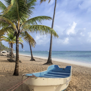 Boat on the beach Barbados