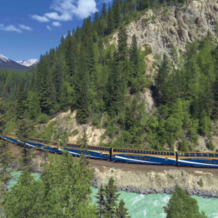 Train Journey through the Canadian Rockies
