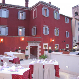 Terrace restaurant at Hotel Kastel, luxury hotel in Croatia