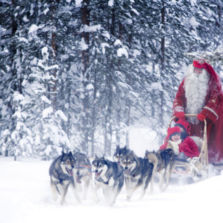 Family Father Christmas in Finland