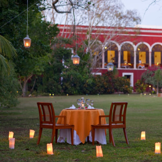 Private dining at Hacienda Temozon, luxury hotel in Mexico