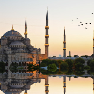 Mosque in Istanbul at Sunrise