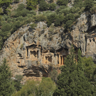 Lycian Tombs on the Aegean Coast