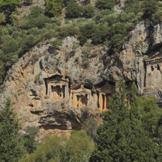 Lycian Tombs on the Aegean Coast