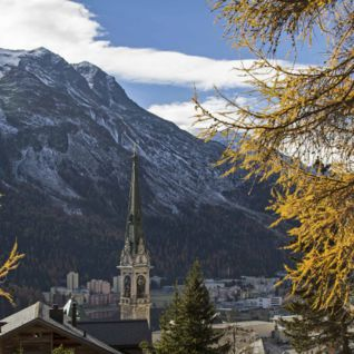 View of St Moritz
