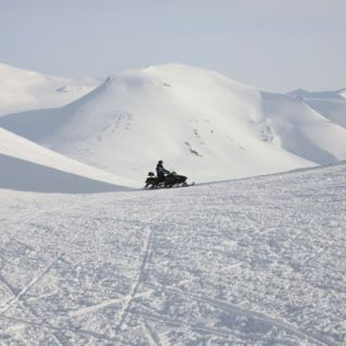 Snowmobile tour, Svalbard