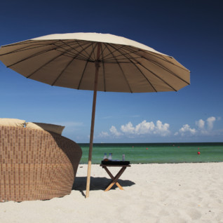 The beach at The Setai, luxury hotel in Miami