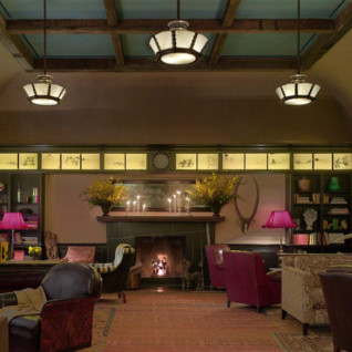 The lounge at Greenwich Hotel, luxury hotel in New York