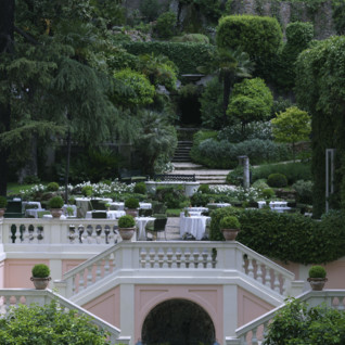 Garden view at Hotel de Russie, Luxury hotel in Rome, Italy