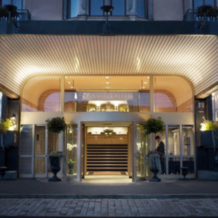 Entrance at The Grand, luxury hotel in Stockholm, Sweden
