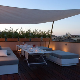 Terrace at St. George hotel, luxury hotel in Italy