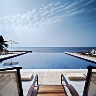 Swimming Pool at Maricel hotel, luxury hotel in the Balearics, Spain