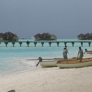The beach at Gili Lankanfushi, luxury hotel in the Maldives