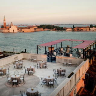 Breakfast Terrace at Bauer Il Palazzo, luxury hotel in Italy