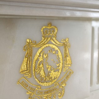 Logo detail at The Imperial, luxury hotel in India