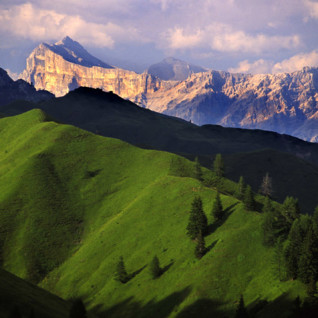 View of Alta Badia resort in the Dolomites