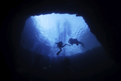 Cave Divers in Gozo