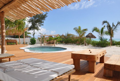 View of the pool at the zanzibar sand luxury villas and spa